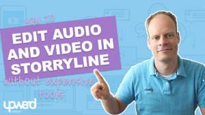 Edit audio video articulate storyline