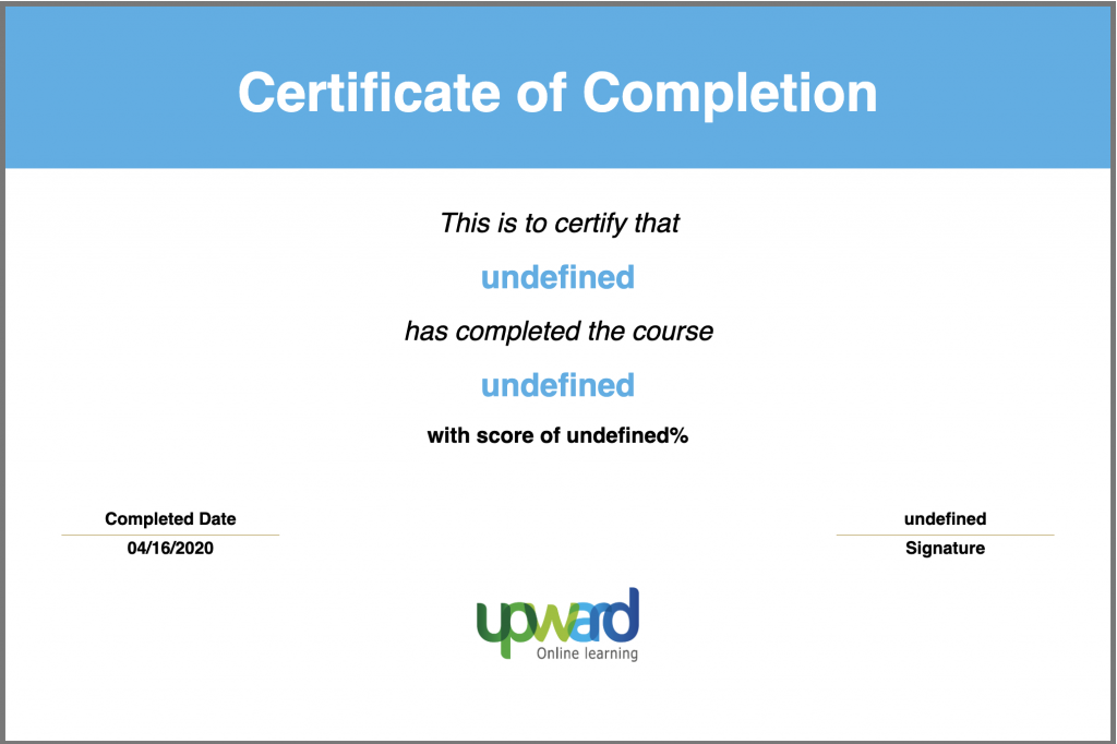Certificate Articulate Storyline