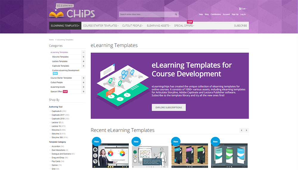 Elearning Chips Elearning templates