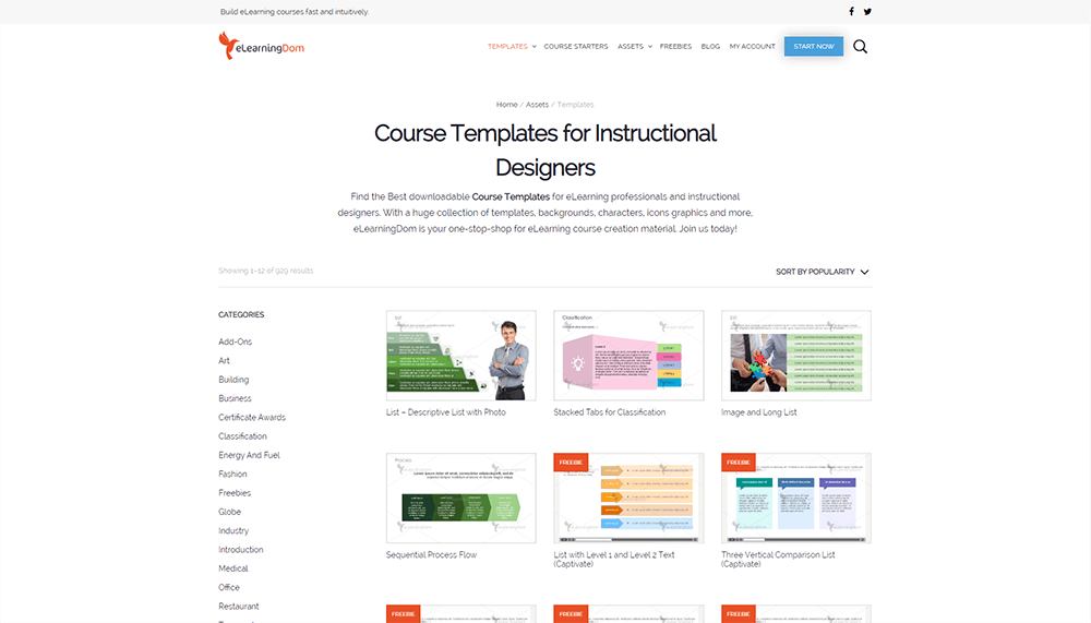 Elearning Dom Elearning templates