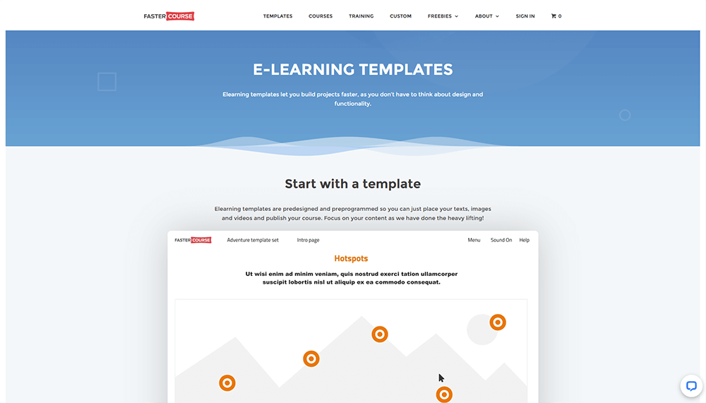 FasterCourse Elearning templates