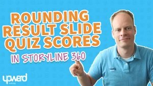 Articulate storyline rounded quiz score